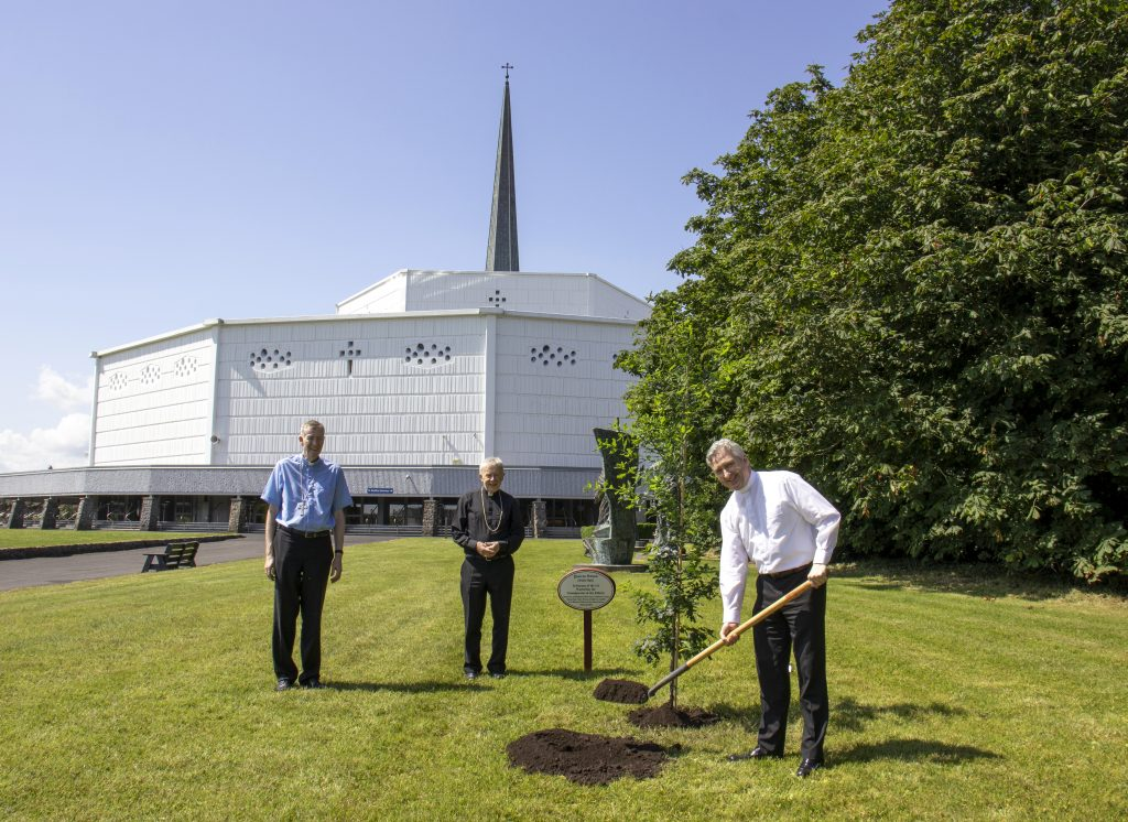 4. Fr Richard Gibbons planting an Irish Oak Tree at Knock Shrine (See file info)
